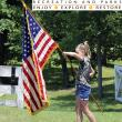 Learning how to carry the American Flag at Hancock's Resolution Park