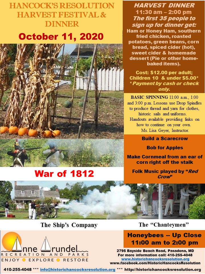2020 Fall Festival and War of 1812